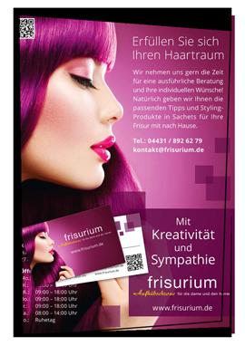 Beispiel Design Plakat Visitenkarte