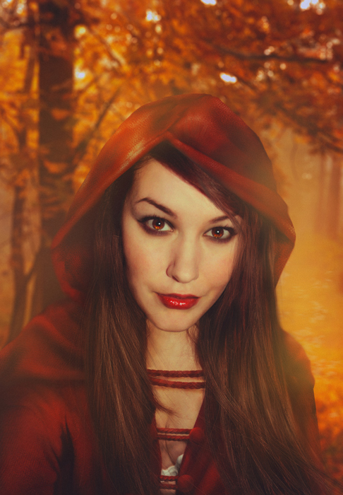 Bildbearbeitung Red Riding Hood | Model S. Herz