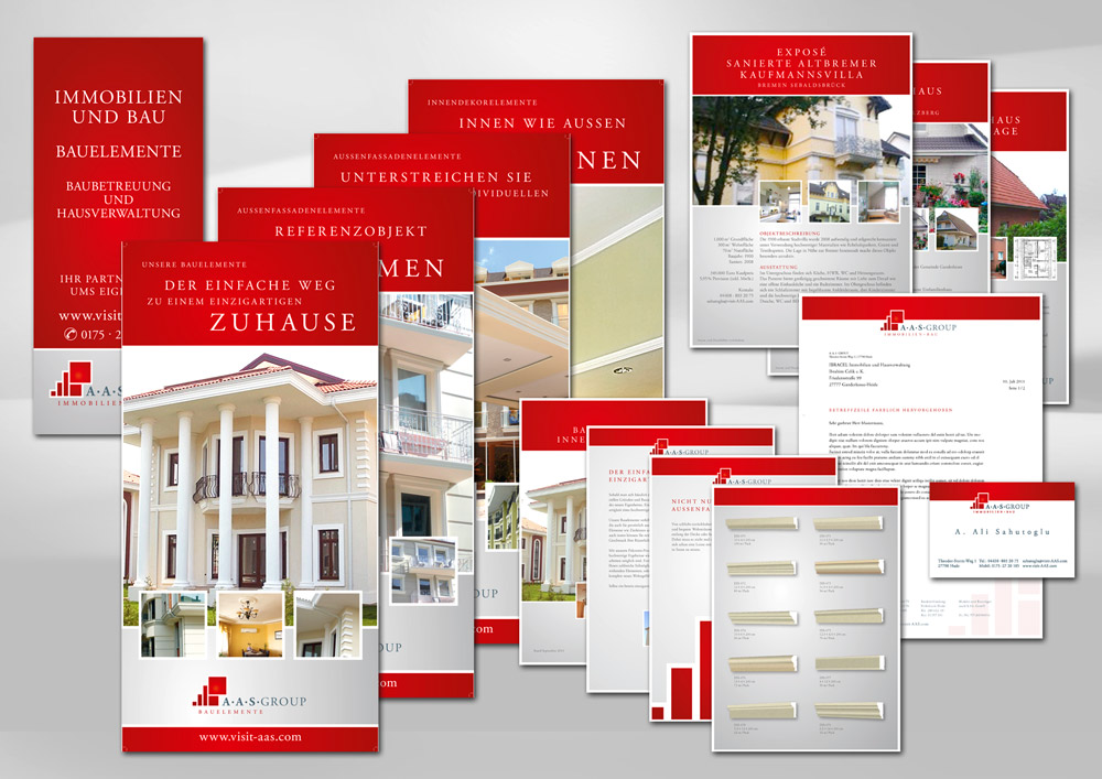 Corporate Design AAS Group Immobilien und Bau