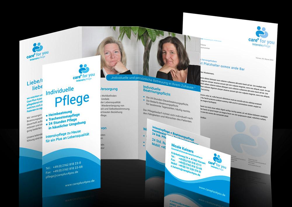 Corporate Design Care Plus 4 You Intensivpflegedienst Viersen