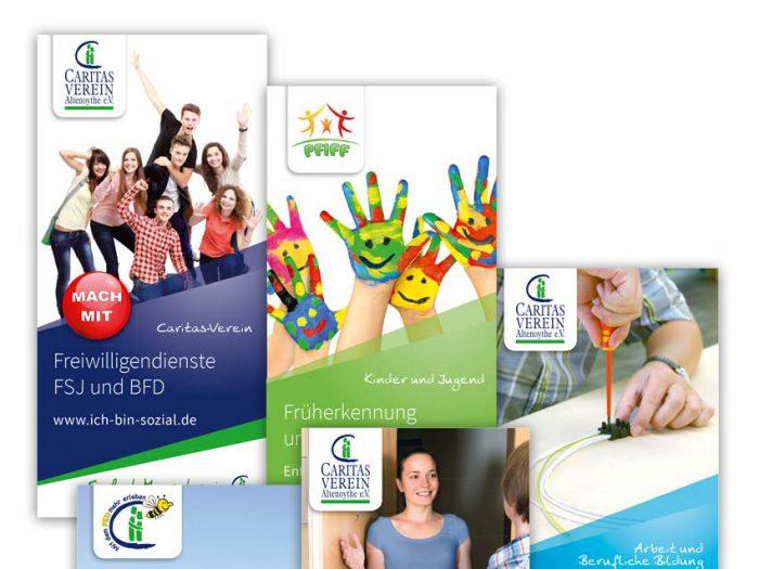 Corporate Design Caritas-Verein Altenoythe Faltblätter