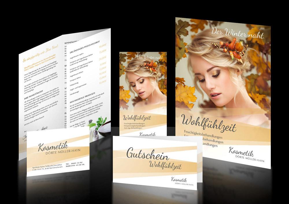 Corporate Design für Kosmetik Wohlfuehlzeit in Bad Zwischenahn