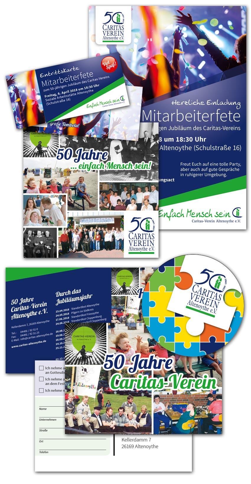 Design 50 Jahre Caritas-Verein Altenoythe
