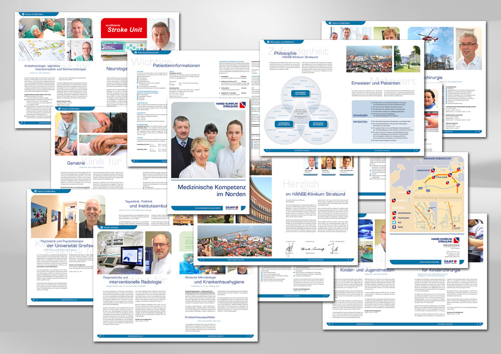 Design Broschüre Klinik Medizin