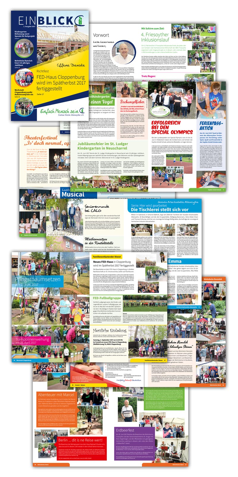 Design Caritas Altenoythe Einblick Sommer Magazin 2017