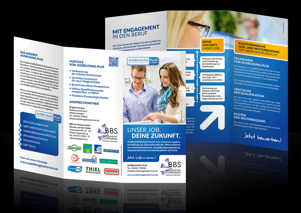 Design-Flyer-Ausbildung-Plus