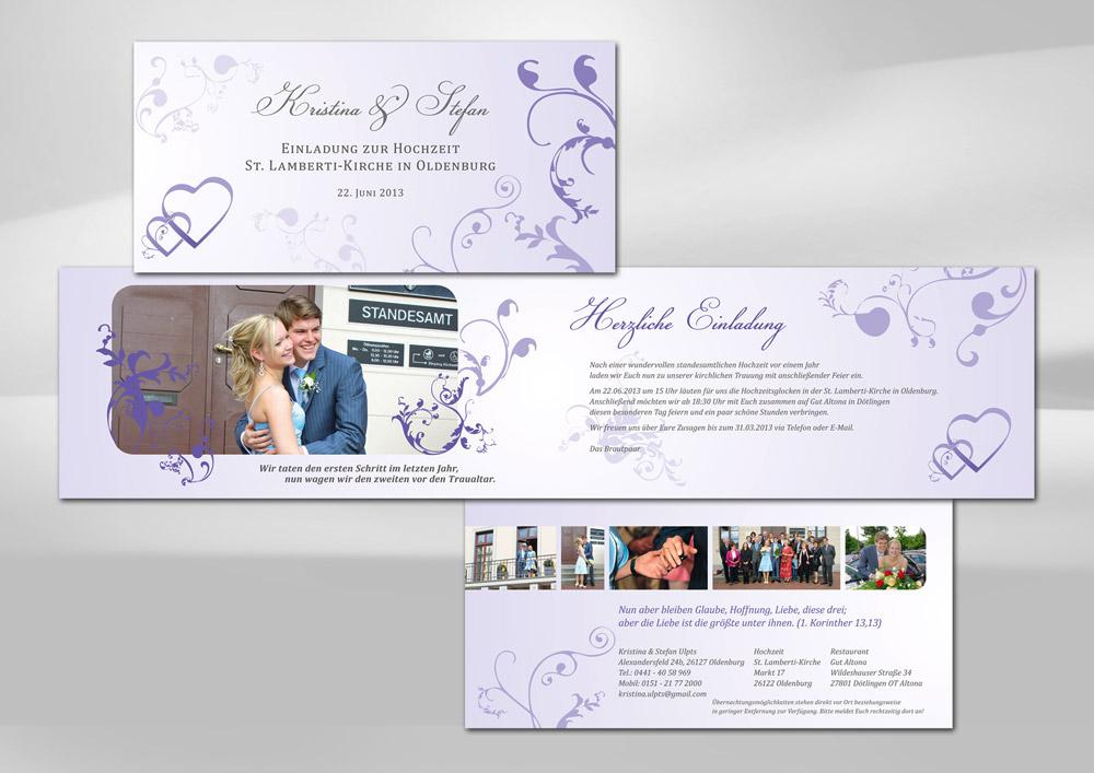Design einer Hochzeitskarte