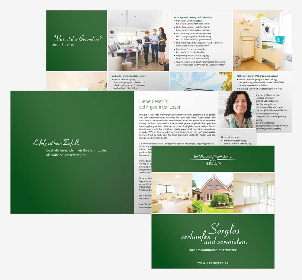 Design Imagebroschüre van Tholen Immobilien Rastede