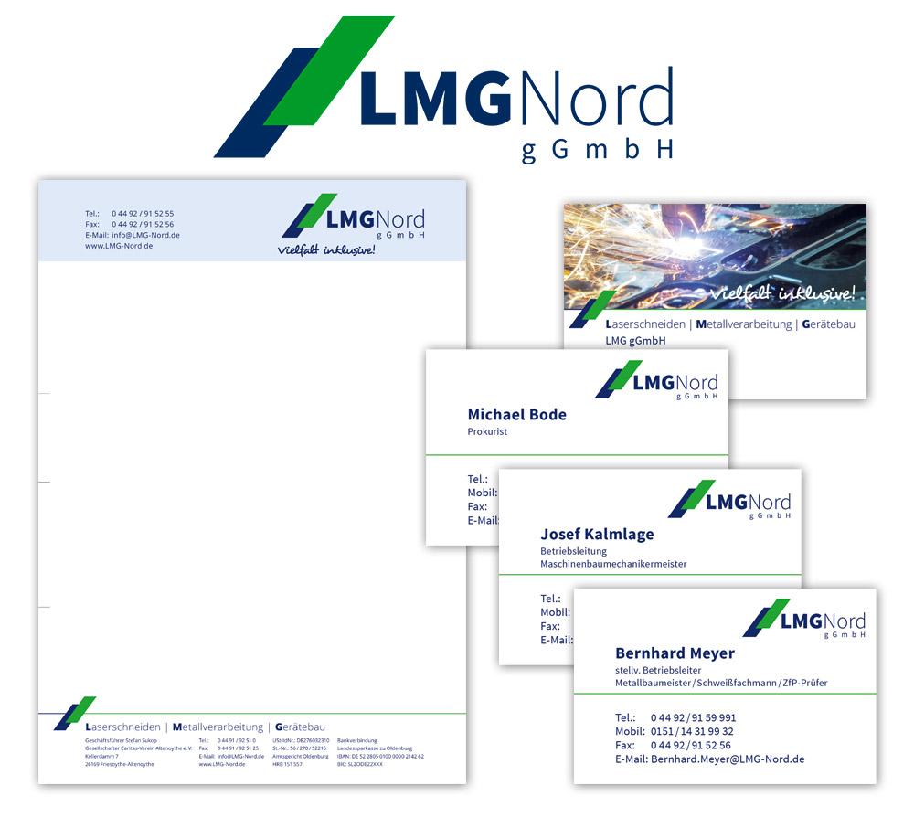 Logo und Corporate Design für LMG Nord