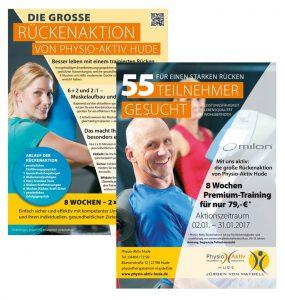 Design Physio Aktiv Anzeige und Flyer