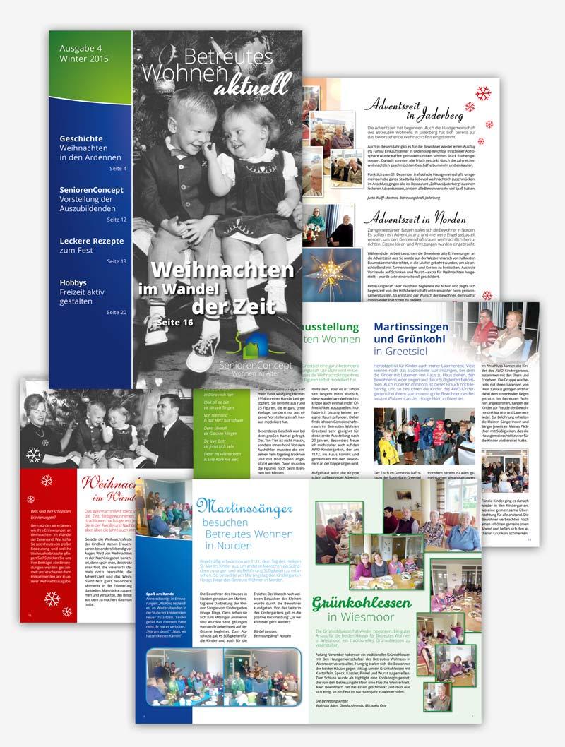 Design SeniorenConcept Magazin Dezember 2015
