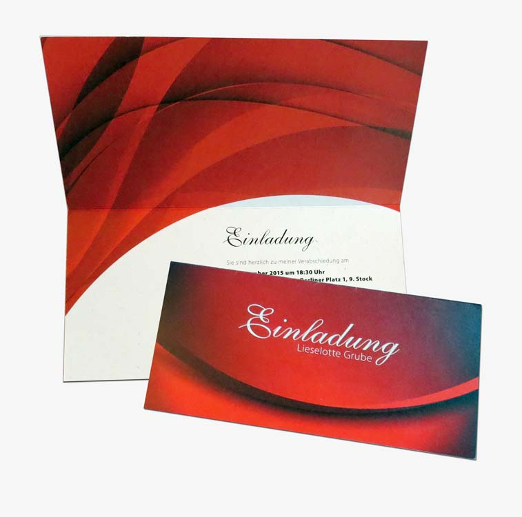 Design einer privaten Einladungskarte
