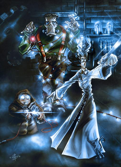 Digitale Illustration Frankenstein