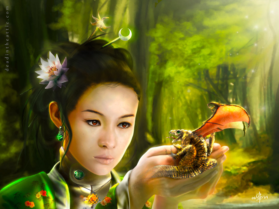 Digitale Illustration Jade Rise of the Dragon