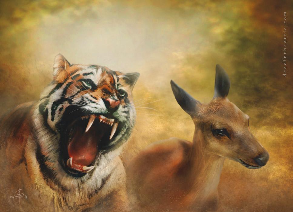 Digitale Illustration Predator Pit