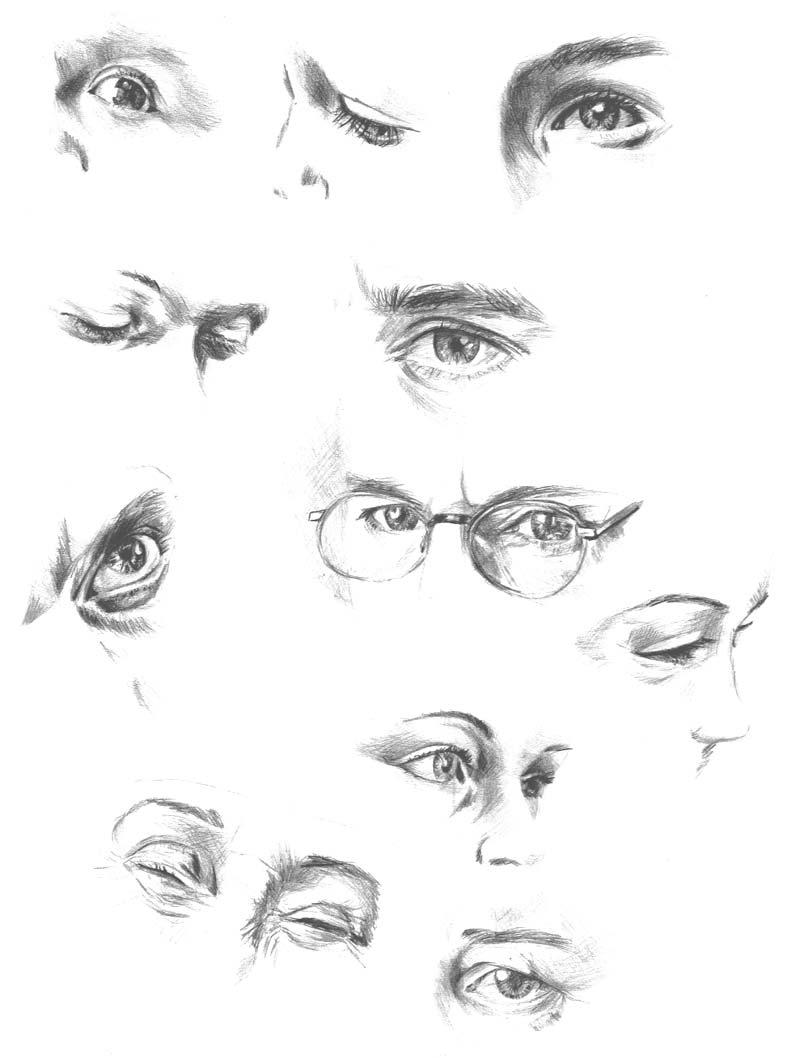 Graphit Skizzen von Augen