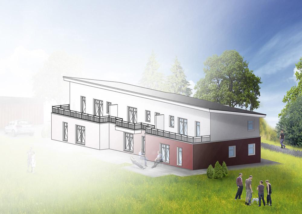 Leverenz Immobilien Hude Bildbearbeitung Visualisierung