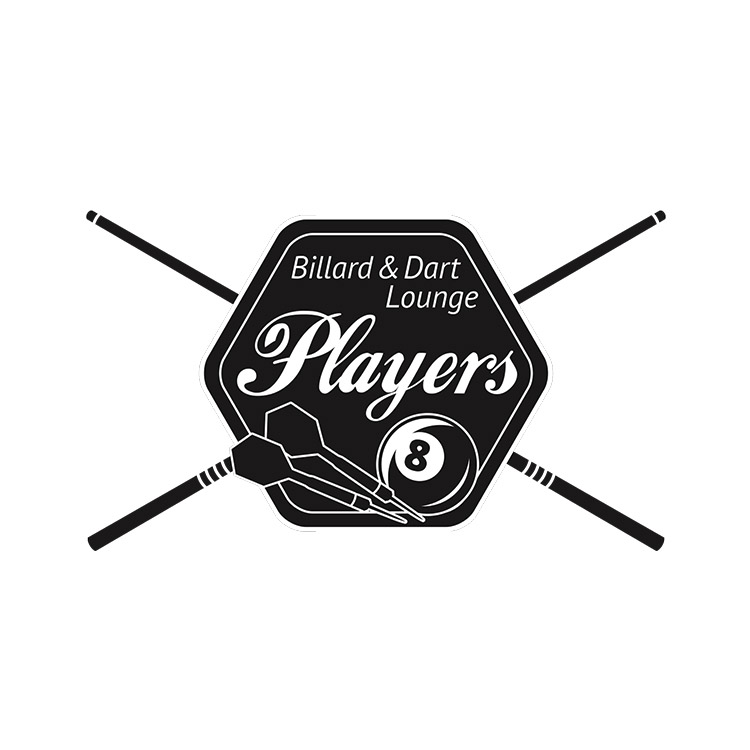Logo Design Players Billard und Dart Lounge