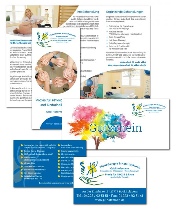 Physiotherapie Praxis Gabi Hofemann Ganderkesee Corporate Design