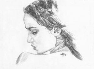 Profil Gesicht einer Frau