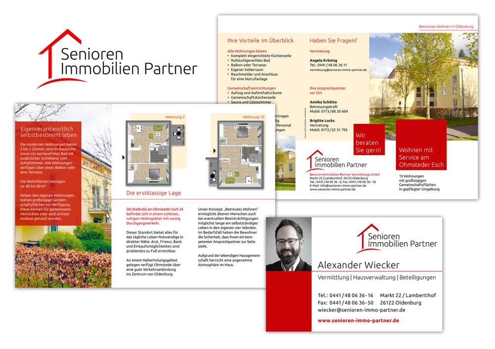 Corporate Design für Senioren Immobilien Partner Oldenburg