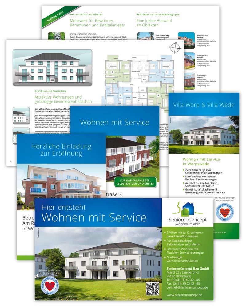 SeniorenConcept Werbemittel Design