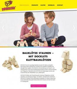 Webdesign DOCKLETS Klett-Bausteine