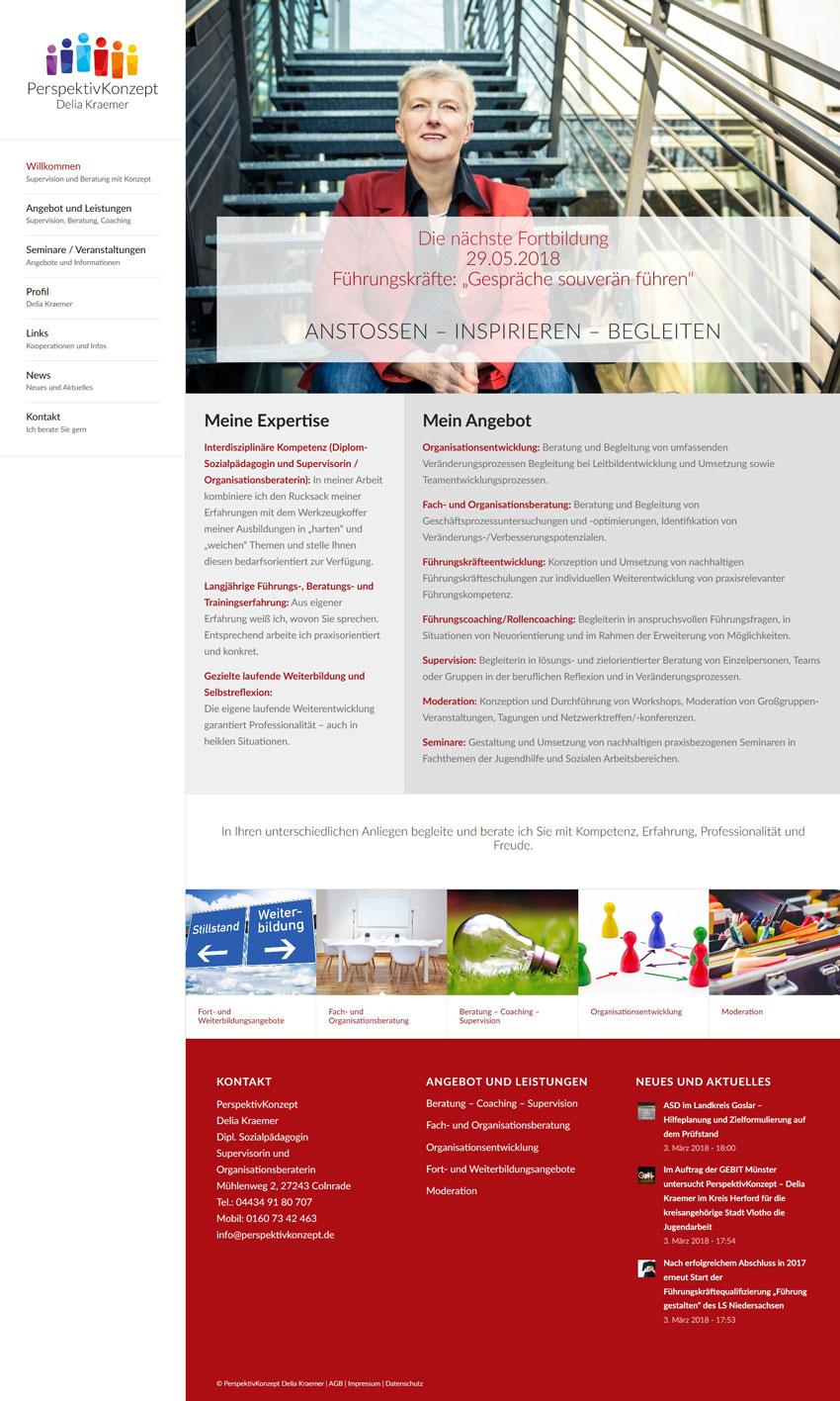Webdesign Delia Kraemer PerspektivKonzept