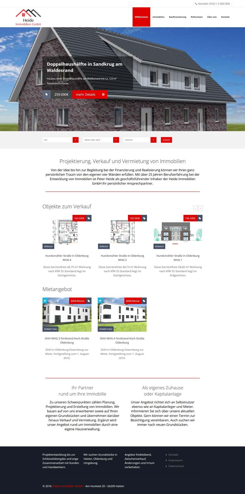 Webdesign Heide Immobilien-GmbH
