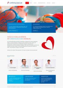 Webdesign für das CARDIOLOGICUM HAMBURG