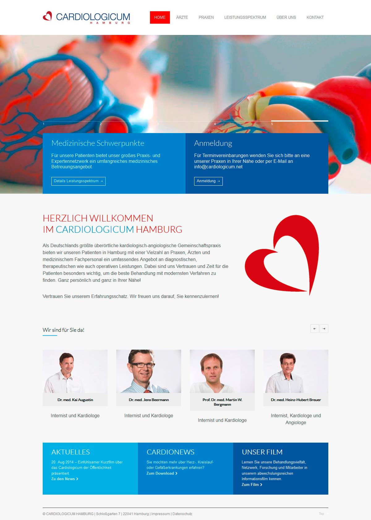 Webdesign-Homepage-Cardiologicum-Hamburg