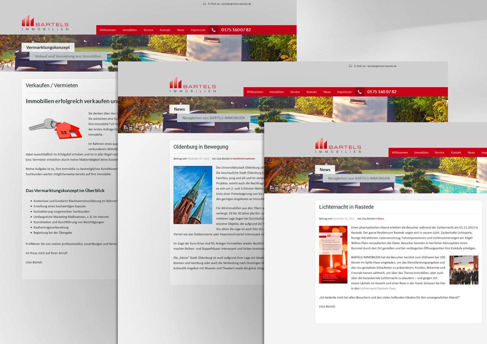 Webdesign Homepage Immobilien Oldenburg