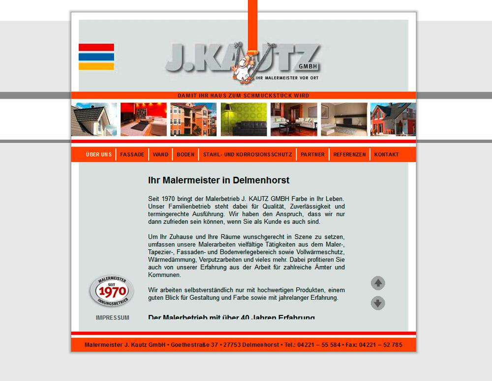 Webdesign der Homepage für einen Maler aus Delmenhorst