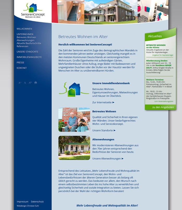 Webdesign-Homepage-SeniorenConcept-Betreutes-Wohnen