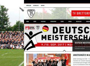 Webdesign der Homepage für den Turnverein Brettorf