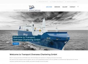 Webdesign Homepage Transport Overseas Chartering aus Bremen
