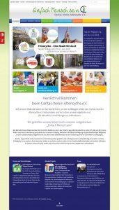 Webdesign der Homepage vom Caritas-Verein Altenoythe