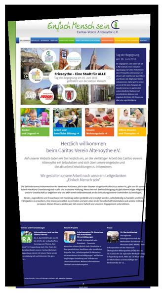 Webdesign Homepage caritas-altenoythe.de