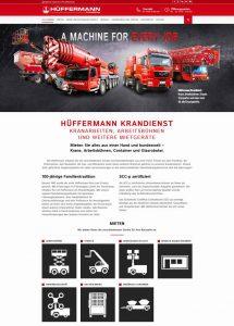 Webdesign für den Hüffermann Krandienst