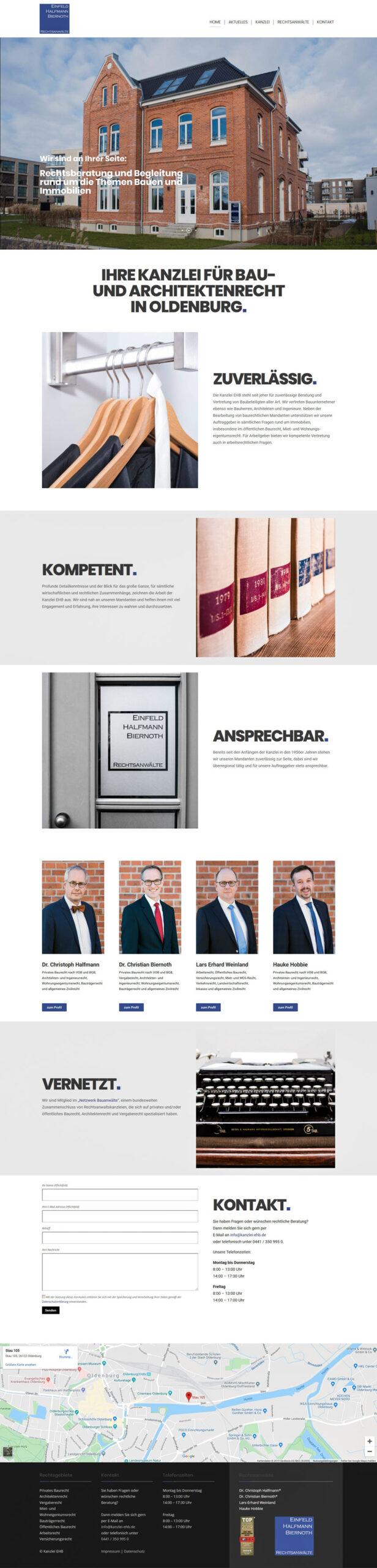 Webdesign-Kanzlei-Einfeld-Halfmann-Biernoth-Rechtsanwaelte-Oldenburg