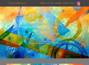 Webdesign Künstlerin Ewa Martens abstrakte Kunst Oldenburg