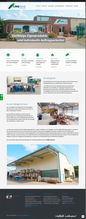 Webdesign LMG Nord Integrationsunternehmen