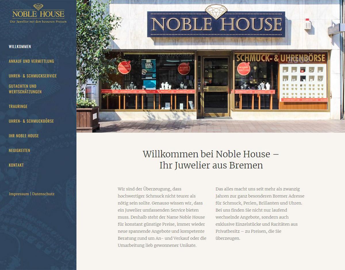 Webdesign Noble-House Juwelier Bremen