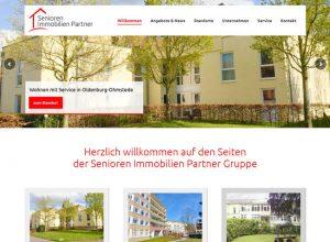 Webdesign für die neue Homepage von Senioren Immobilien Partner aus Oldenburg