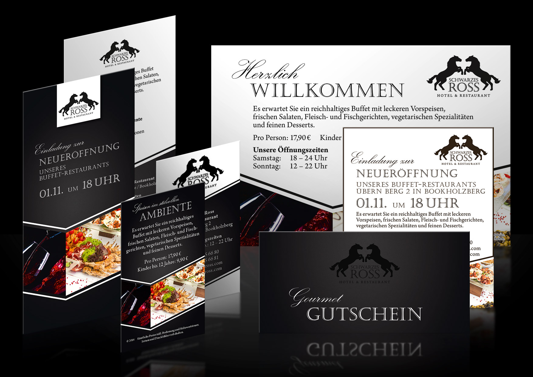 Werbedesign-Restaurant-Schwarzes-Ross-Bookholzberg